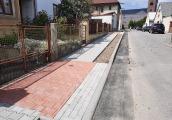 Nový chodník v ulici Polní